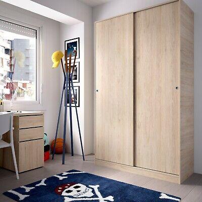 Armario dos puertas correderas 120 cm, color natur | eBay