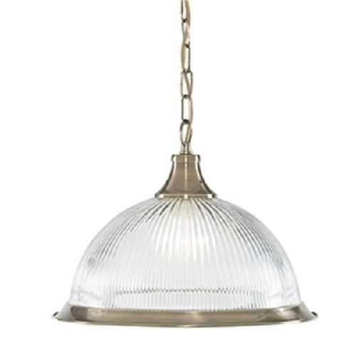 SEARCHLIGHT AMERICAN DINER CEILING PENDANT LIGHT ANTIQUE BRASS FINISH 9369