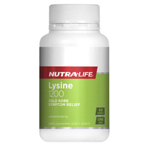 Details about NUTRALIFE LYSINE 1200 60 TABLETS RELIEVES COLD SORE SYMPTOMS  NUTRA-LIFE
