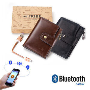 Genuine-Leather-Bluetooth-Smart-Wallet-Anti-Lost-GPS-Locator-Tracker-Alarm-Purse