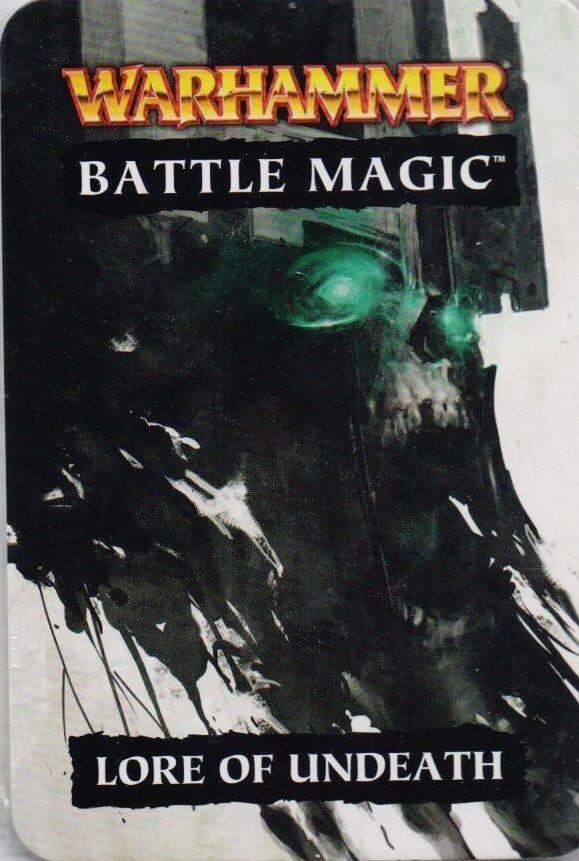 Warhammer Battle Magic Cards Lore of Undeath New Games Workshop Undead Nagash
