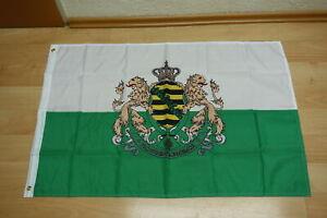 Fahne Flagge Königreich Sachsen 90 x 150 cm