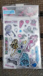 12 X Monster High Bouffi Rembourré Autocollants Décoration Fête D'anniversaire Sacs Cadeau Nouveau-afficher Le Titre D'origine
