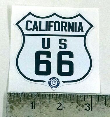 "Vintage California Route 66 1940s sticker decal 3.1""x3"""