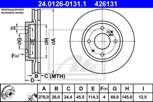GALA VA für MITSUBISHI GALANT VI EA/_ ATE Bremsscheiben Beläge Vorderachse