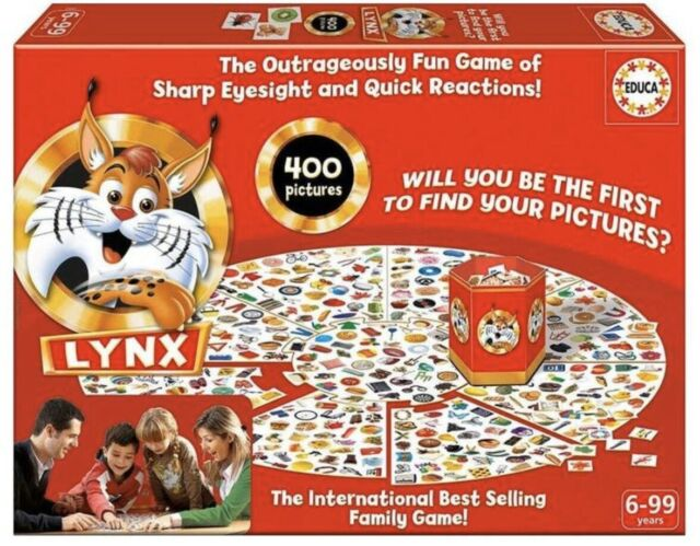 Lynx Family Board Game- 400 Pictures How Quickly Can You Find Them On The Board?