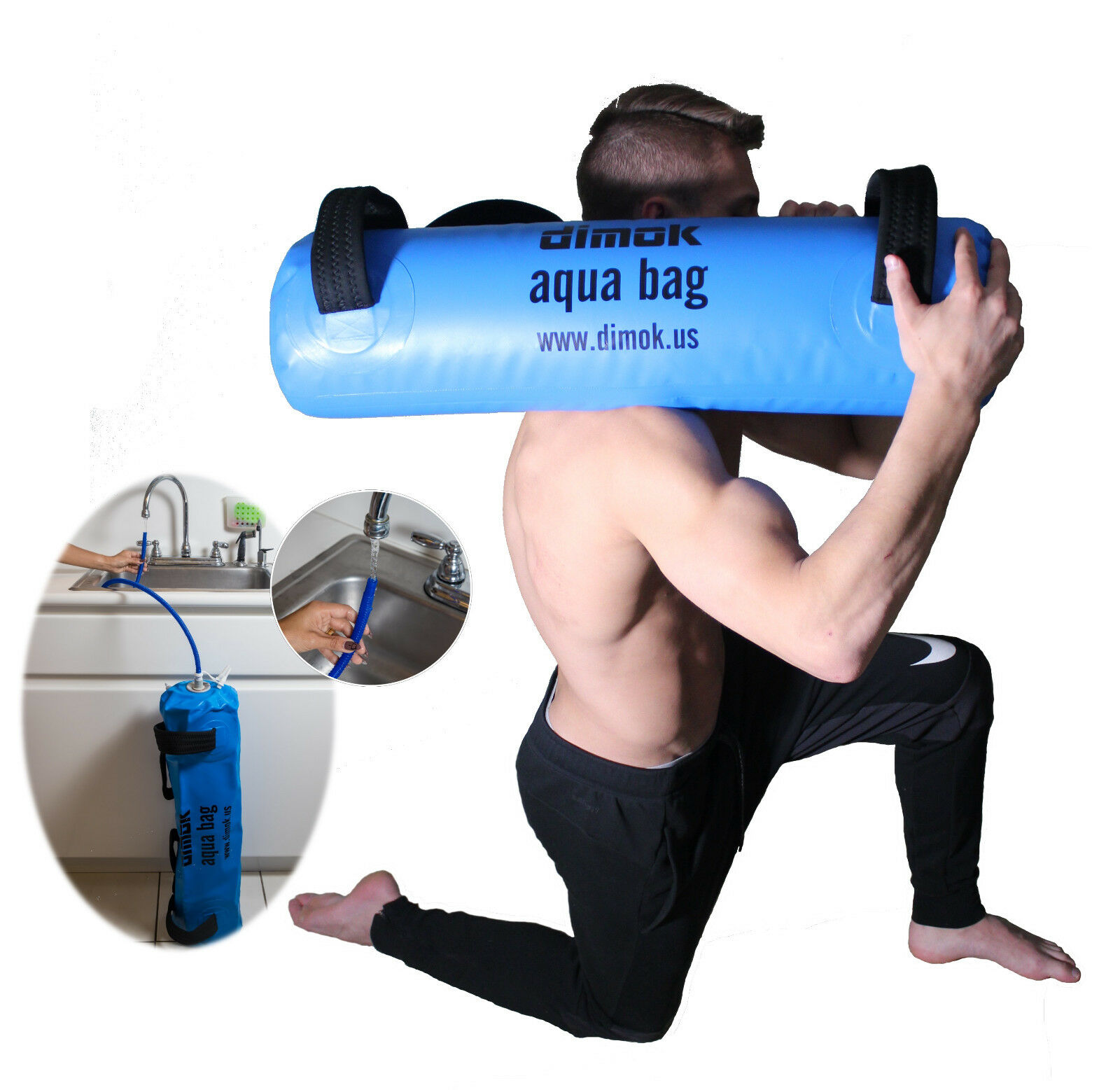 Sandbag w Water Training Aqua Bag -Home Gym - Portable Weight