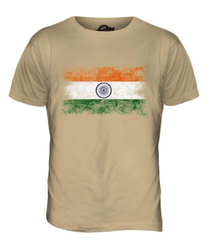INDIA DISTRESSED FLAG MENS T-SHIRT TOP BHAR?T BH?RATA BH?RAT INDIY INDIAN