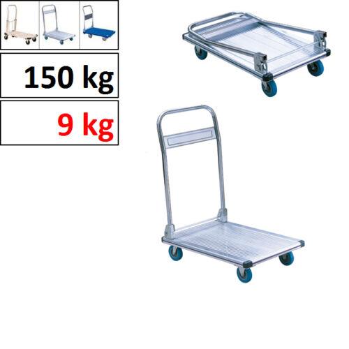 Aluminio plegable-carro de plataforma, capacidad de carga 150 kg, de peso neto 9 kg