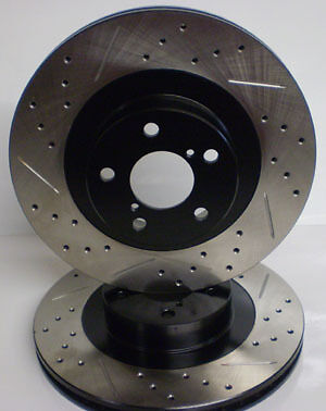 Toyota Corolla XRS 05 06 Drill Slot Brake Rotors F+R