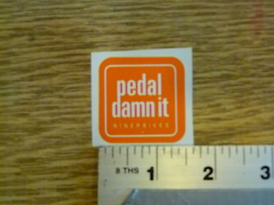 "Niner Bikes Large /""Pedal damn it/"" Die Cut Sticker Decal"