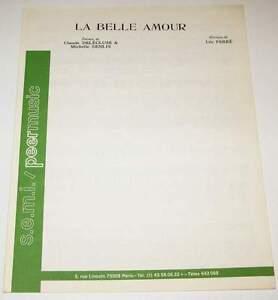 Partition sheet music LEO FERRE : La Belle Amour * 50's - France - Type: Partition Genre musical: Chanson, Variété franaise Instrument: Chant, Piano Artiste: Léo Ferré - France