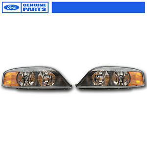 Image Is Loading Oem New 2000 2002 Lincoln Ls Headlight Pair