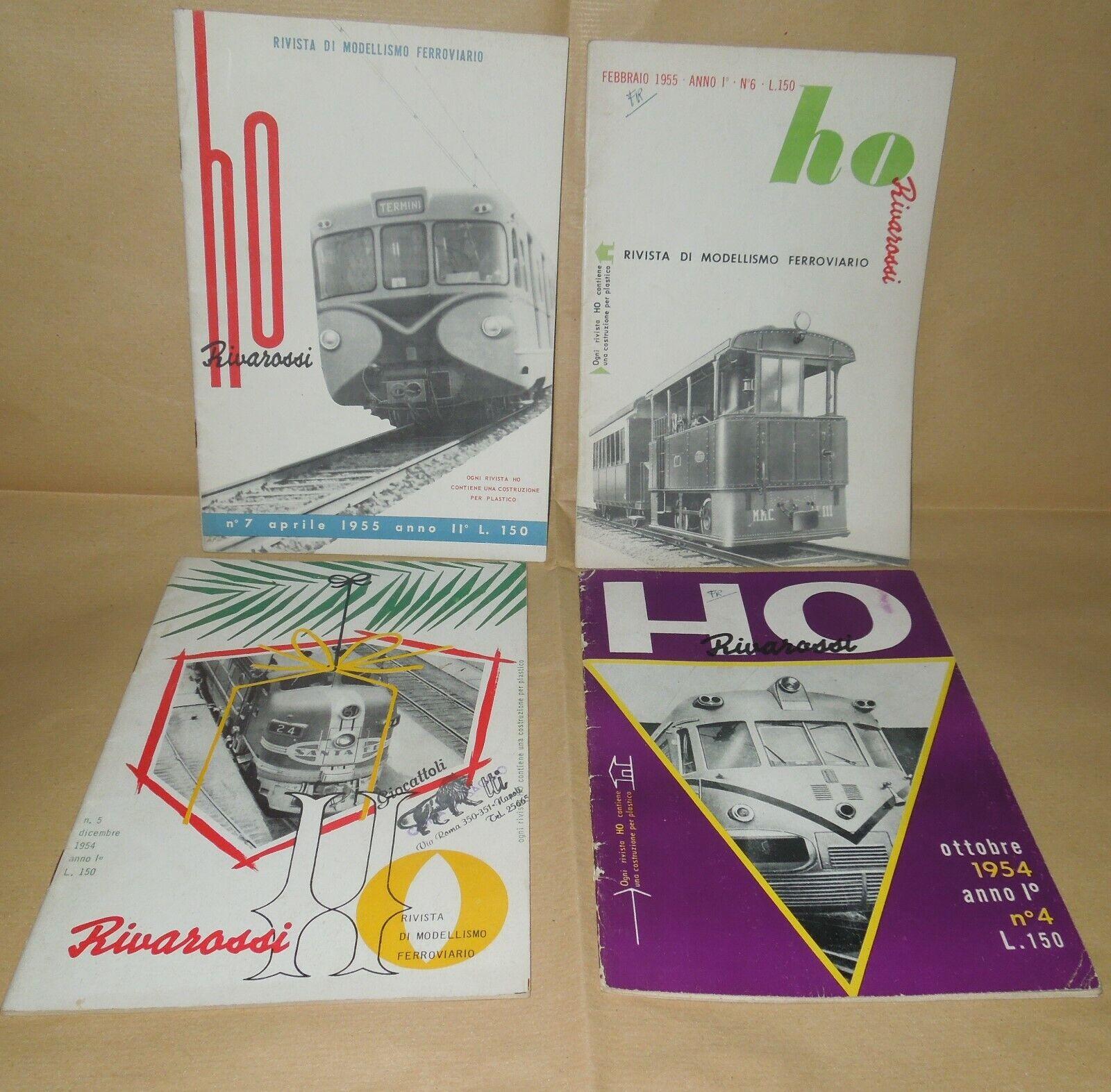 Riviste modellismo ferroviatio H0 rivarossi 32 numeri dal n. 4 del  1954 al 62