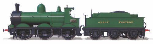Oxford järnväg Dean bras Steam Locomotive Great Western 76DG003 fri Shipping