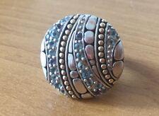 John Hardy 18k Gold 925 Silver Kali Lavafire Sea Blue Topaz Iolite Colorway Ring