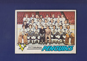 Pittsburgh-Penguins-Team-CL-Unmarked-1977-78-O-PEE-CHEE-OPC-Hockey-84-EX
