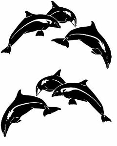 Dolphin Fish Boat Decals Large Fishing Graphics Big Sticker - Boat decals