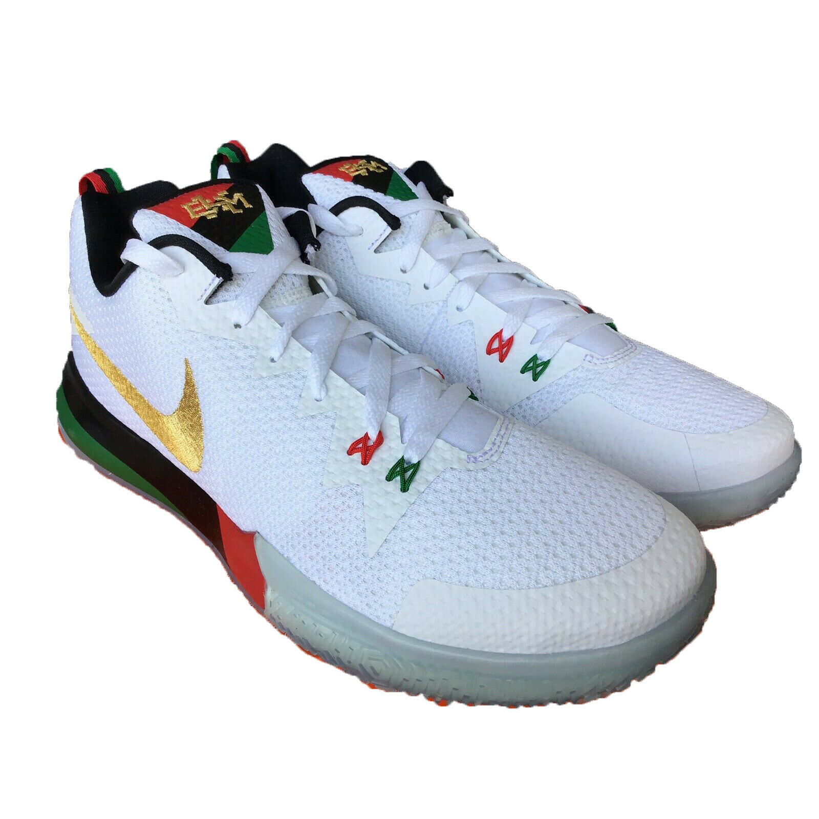 Nike Zoom Live II BHM Promo AQ9580-100 White gold Green Red Men's shoes Sz 13.5