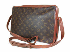 Auth LOUIS VUITTON Vintage Sac Bandouliere Monogram Canvas Leather Shoulder Bag