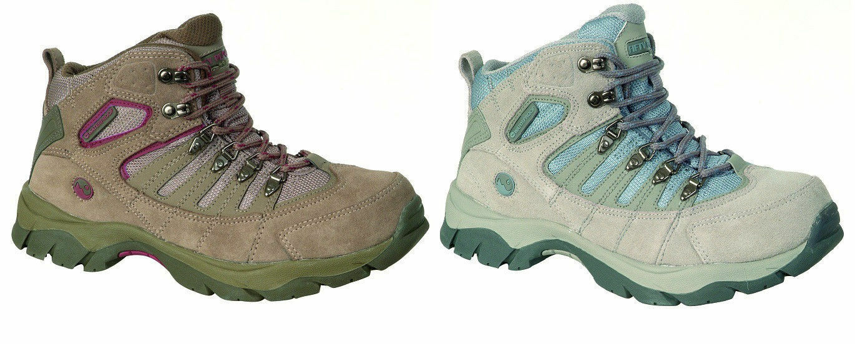 Ladies Grey Taupe Lace Up Hi-Tec Walking Boots McKinley
