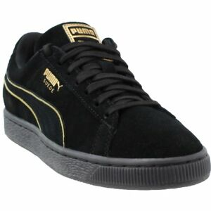 aeedf503448479 Image is loading Puma-Suede-Foil-FS-Sneakers-Black-Mens