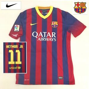 3fa2dd301bf Barcelona Football Shirt Mint ( M ) NEYMAR JR Brazil Genuine Nike ...