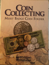 BRAND NEW-BOY SCOUTS MERIT BADGE COIN COLLECTING FOLDER H.E. HARRIS & CO ALBUM