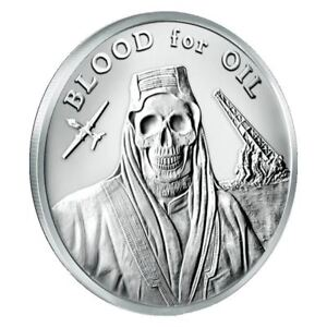 2017 Silver Shield Blood For Oil 1 Oz Mini Mintage Round