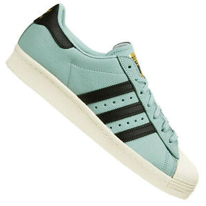 online store afb3b a4b45 Details about Adidas Superstar 80s Shoes Retro Sneaker BZ0143 Tactile Green  Blue-Green