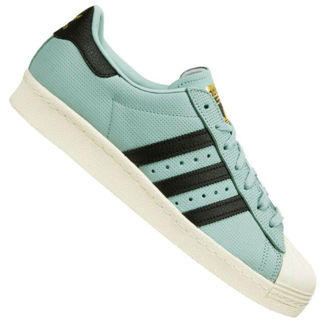 reputable site c3524 874bb Adidas Superstar 80s Shoes Retro Sneaker BZ0143 Tactile Green Blue-Green