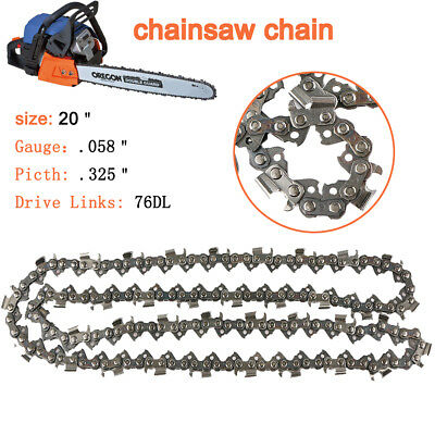 "2pcs Replacement 16/"" Chainsaw Chain Blade Pitch 3//8/""LP 0.050 Gauge 59 DL UK"