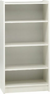 Image Is Loading Simba White Kids Tall Wide Bookcase Bookshelf Shelving