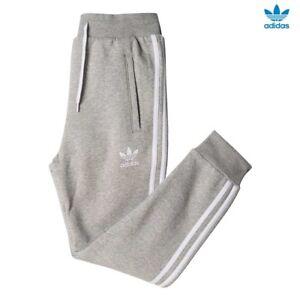 Med Junior Chicos Adidas Originals Street Estilo 3 Rayas Jogging Pantalones Gris 1avl Ebay