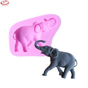 3D-Elephant-Animal-Silicone-Fondant-Mould-Icing-Cake-Decoration-Chocolate-Mold