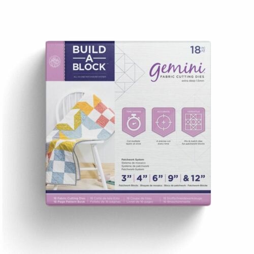 Crafters Companion Gemini Build-a-sistema de tela patchwork de bloque