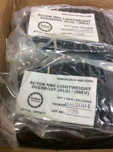 XXL Black 4192S QTY 1 Airboss Defense Lightweight Overboots NBC MK V 3065A11 Sz