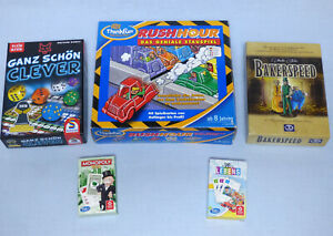 5-Kinder-Spiele-Paket-fuer-1-2-Sp-RUSHHOUR-Bakerspeed-Spiel-des-Lebens-Karten