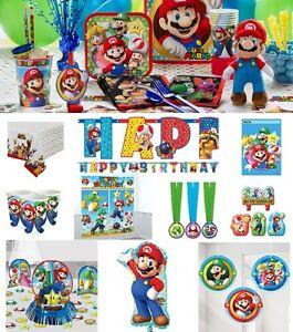 Super Mario Birthday Party Supplies Table Decoration Plates