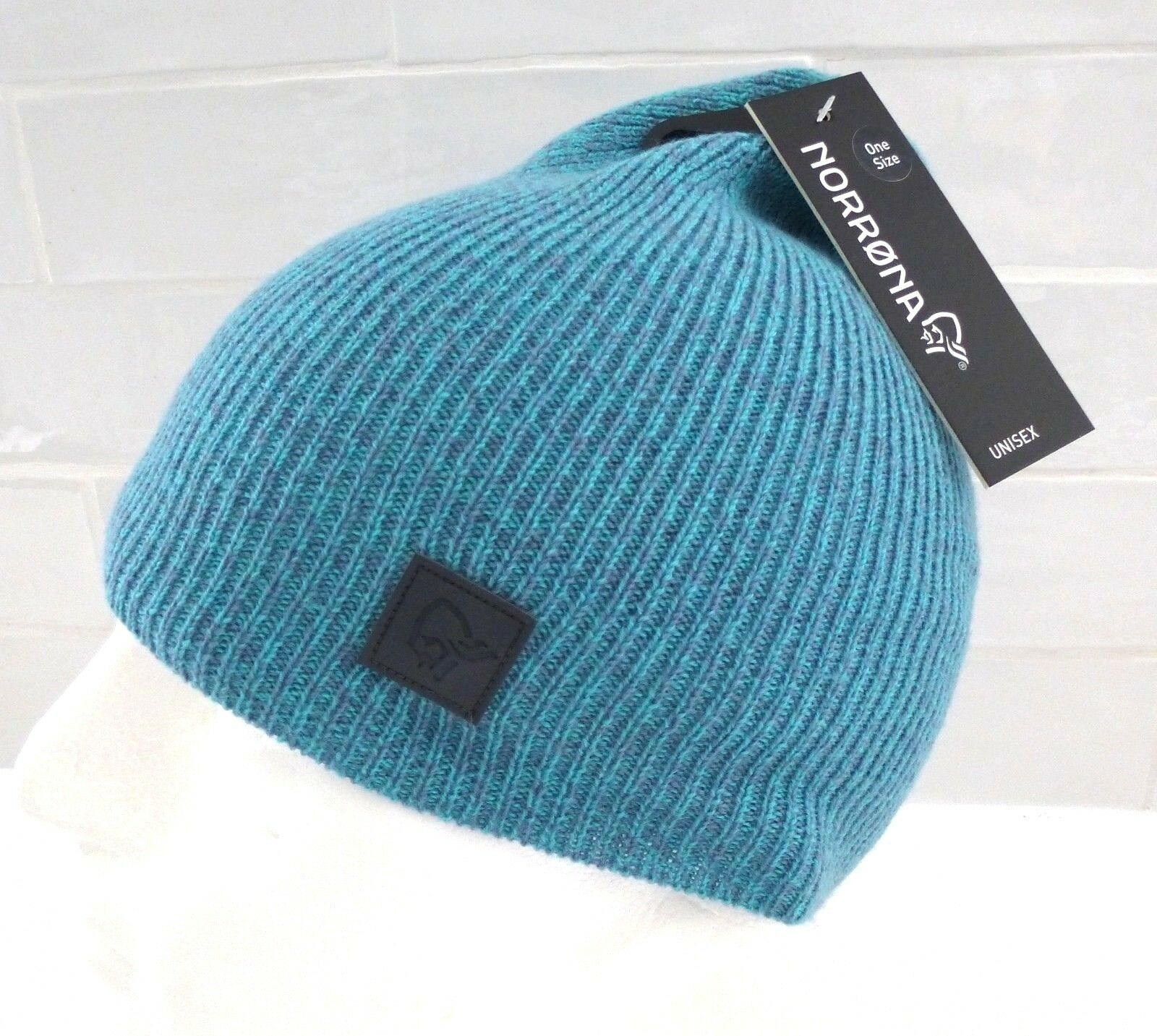 NORRONA of Norway MERINO WOOL Thin Aquanut Beanie Toque Hat OSFA Mens Womens Tag
