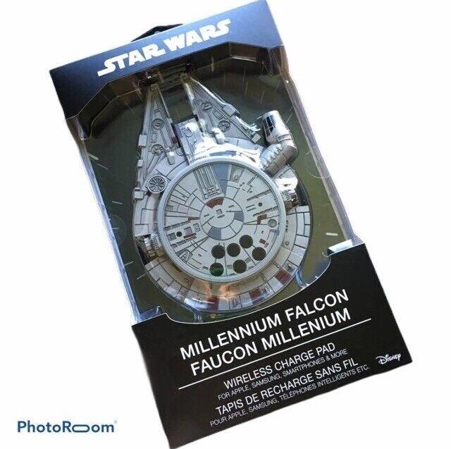 Star Wars Millennium Falcon Wireless Charger Pad w/ AC Adapter Samsung Apple