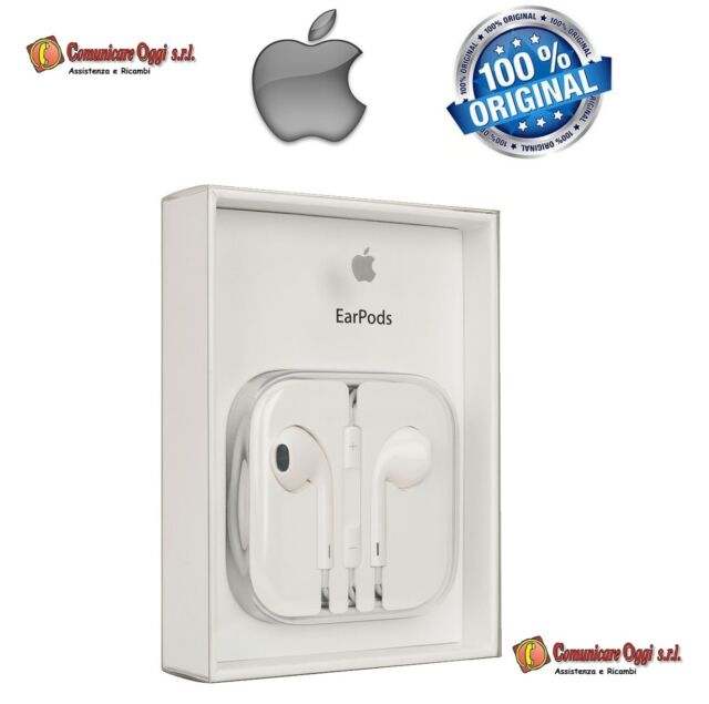Cuffie Auricolari EarPods Originali per Apple ipnone 6,6s-iPod BLISTER MD827ZM/A