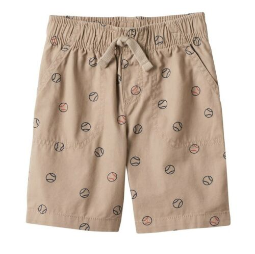 Toddler Boys Shorts Pull On Elastic Waistband FUN PRINTS CAMO Airplanes Baseball