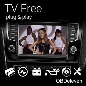 TV Free Video in Motion Volkswagen Discover MIB1 MIB 2 VW