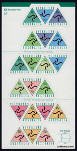 1994-Kangaroos-Triangle-S-A-SG1495-1502-Booklet-MUH-Mint-Stamps-Australia
