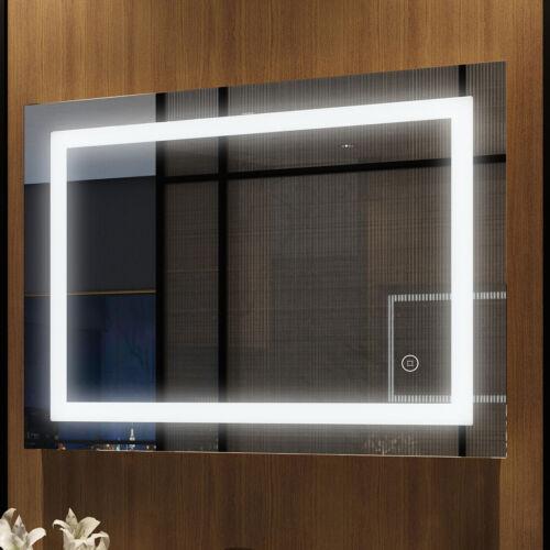 Badspiegel mit Beleuchtung 80x60 120x60 LED Touch Badezimmer Spiegel mit Licht