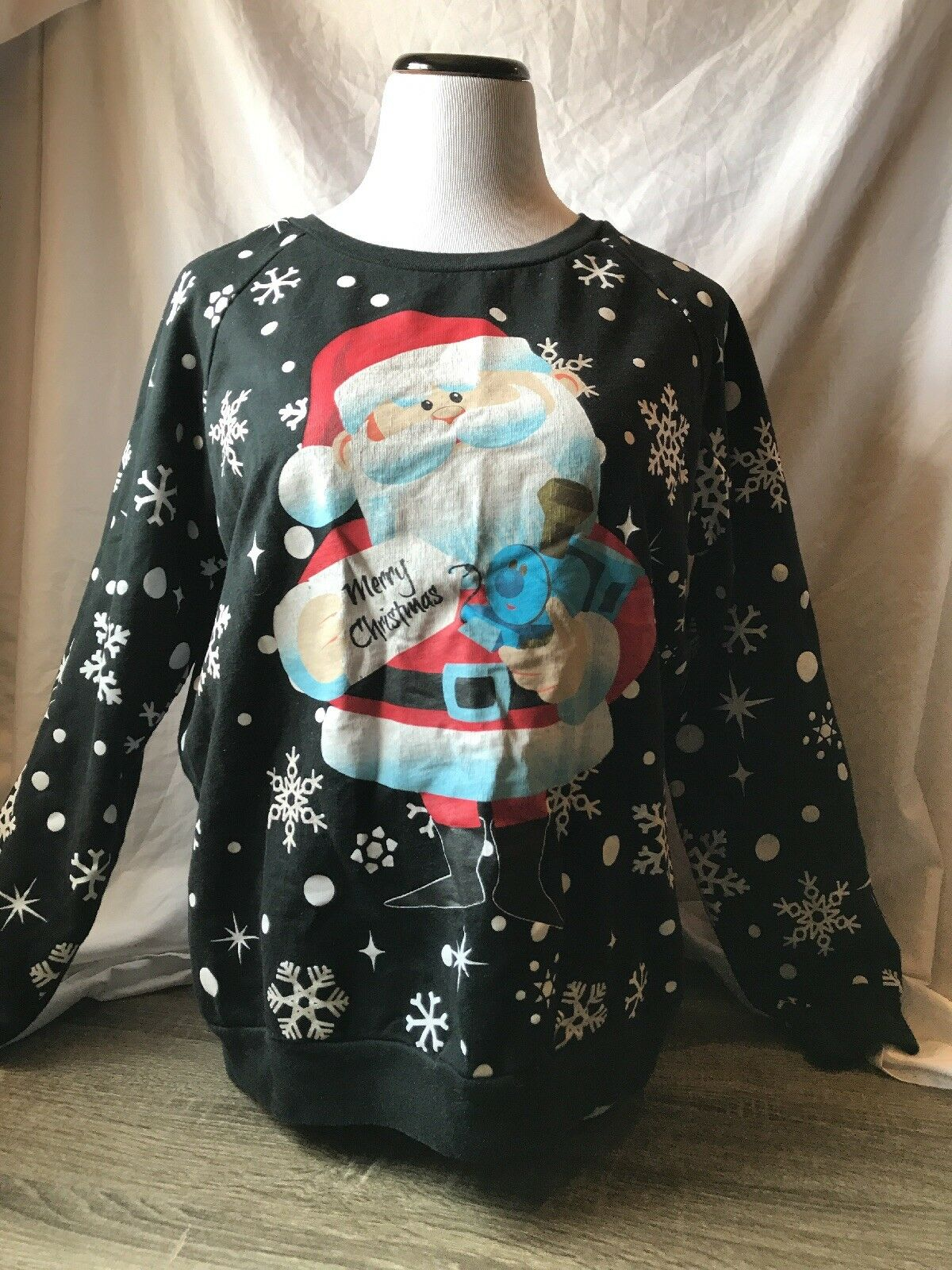 ad74292c998c Rudolph Red Nosed Santa snow Christmas Ugly Sweatshirt Women s XL ...