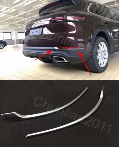 Chrome Rear Fog Light Cover Trim for 2018 2019 Porsche Cayenne 2pcs