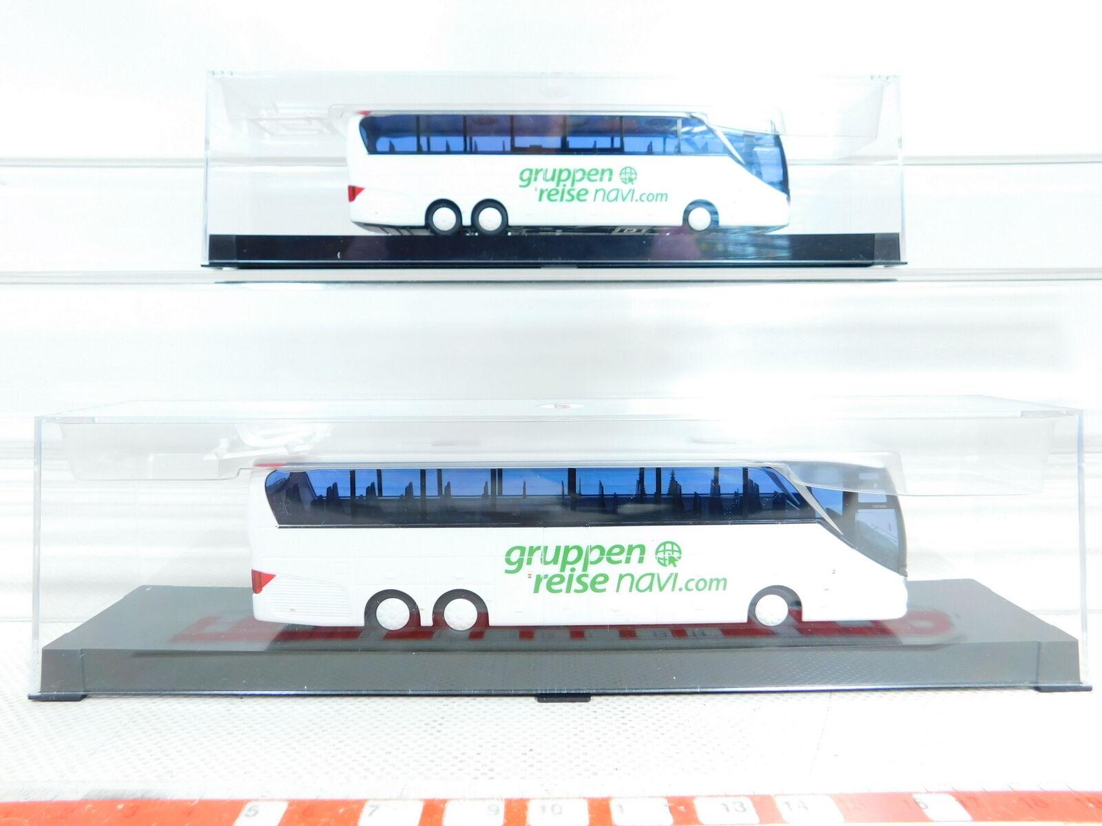 BX373-0,5 x AWM 1 87   H0 Bus SETRA S 516 Hdh Gruppenreise Navigation