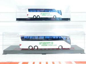 BX373-0-5-2x-AWM-1-87-H0-Bus-Setra-S-516-HDH-Gruppenreise-navi-NEUW-OVP